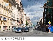 Купить «Кирочная улица. Предгрозовые контрасты. Санкт-Петербург», эксклюзивное фото № 676828, снято 24 июня 2008 г. (c) Александр Щепин / Фотобанк Лори