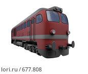 Купить «Красный локомотив», иллюстрация № 677808 (c) ИЛ / Фотобанк Лори