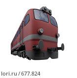 Купить «Красный поезд», иллюстрация № 677824 (c) ИЛ / Фотобанк Лори