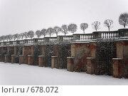 Снежный Петергоф (2009 год). Редакционное фото, фотограф Илларионов Андрей / Фотобанк Лори