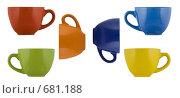 Цветные чашки. Стоковое фото, фотограф Андрей Чмелёв / Фотобанк Лори