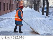 Купить «Снегоуборка тротуара», эксклюзивное фото № 682616, снято 8 января 2009 г. (c) Ivan I. Karpovich / Фотобанк Лори