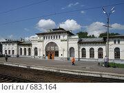 Станция Шарья. Вокзал (2008 год). Стоковое фото, фотограф Елена Лавренова / Фотобанк Лори