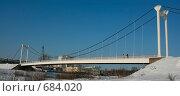 Купить «Парковый мост в Йошкар-Оле через реку Малая Кокшага», фото № 684020, снято 1 февраля 2009 г. (c) Татьяна Лепилова / Фотобанк Лори