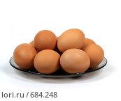 Яйца на тарелке. Стоковое фото, фотограф Олег Колташев / Фотобанк Лори