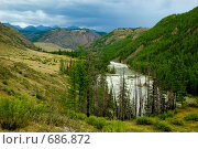 Купить «Река Чуя. Горный Алтай», фото № 686872, снято 19 июля 2008 г. (c) Селигеев Андрей Иванович / Фотобанк Лори