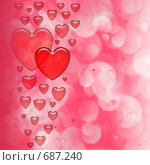 Купить «Фон ко дню вятого Валентина», иллюстрация № 687240 (c) ElenArt / Фотобанк Лори