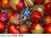 Новогодние елочные игрушки. Стоковое фото, фотограф Константин Хрипунков / Фотобанк Лори