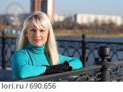 Девушка в голубом. Стоковое фото, фотограф Константин Исаков / Фотобанк Лори