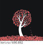 Купить «Дерево любви, иллюстрация», иллюстрация № 690892 (c) крижевская юлия валерьевна / Фотобанк Лори