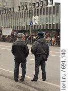 Милиционеры. Стоковое фото, фотограф Михаил Треусов / Фотобанк Лори