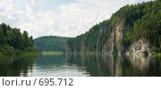 Купить «Панорамный вид на Вишере», фото № 695712, снято 11 июля 2008 г. (c) Максим Стриганов / Фотобанк Лори