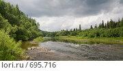 Купить «Панорамный вид на берегу реки Акчим», фото № 695716, снято 11 июля 2008 г. (c) Максим Стриганов / Фотобанк Лори