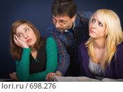 Купить «Подростки на уроке», фото № 698276, снято 4 января 2007 г. (c) Михаил Лавренов / Фотобанк Лори