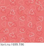 Купить «Фон из сердечек», иллюстрация № 699196 (c) крижевская юлия валерьевна / Фотобанк Лори