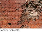 Купить «Стена Брестской крепости со следами обстрела», фото № 702004, снято 11 мая 2008 г. (c) Андрей Рыбачук / Фотобанк Лори