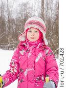 Купить «Портрет девочки на лыжах», фото № 702428, снято 18 января 2009 г. (c) Ольга Полякова / Фотобанк Лори