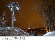 Купить «Канатная дорога на Воробьевых горах», фото № 704172, снято 14 февраля 2009 г. (c) Дианова Елена / Фотобанк Лори