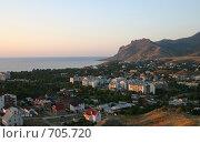Крым, поселок Коктебель. Рассвет. Стоковое фото, фотограф Румянцева Елена / Фотобанк Лори