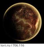 Купить «Одинокая планета где-то на окраинах галактики», иллюстрация № 706116 (c) Попов Максим / Фотобанк Лори