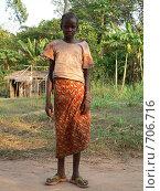 Девочка из африканской деревни (2007 год). Редакционное фото, фотограф Ольга Морозова / Фотобанк Лори