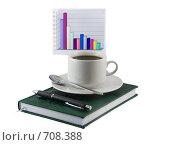 Купить «Бизнес-ежедневник,ручка, чашка кофе», фото № 708388, снято 11 января 2009 г. (c) Vitas / Фотобанк Лори