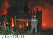 Пожар в городе. Стоковое фото, фотограф Людмила Алексеева / Фотобанк Лори