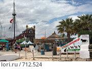 Купить «Каравелла на встрече туристов», фото № 712524, снято 20 мая 2008 г. (c) Aleksander Kaasik / Фотобанк Лори
