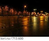 Купить «Ночные огни», фото № 713600, снято 22 ноября 2008 г. (c) Александр Глебов / Фотобанк Лори