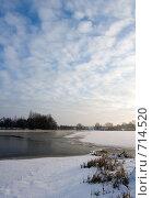 Купить «Зимний пейзаж на реке», фото № 714520, снято 21 февраля 2009 г. (c) Андрей Рыбачук / Фотобанк Лори