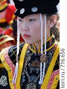 Купить «Девочка в бурятском наряде», фото № 716656, снято 6 сентября 2008 г. (c) Александр Подшивалов / Фотобанк Лори