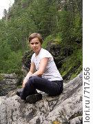 Девушка в лесу. Стоковое фото, фотограф Смирнов Владимир / Фотобанк Лори
