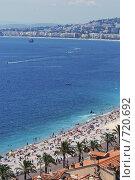 Купить «Пляж на Лазурном берегу», фото № 720692, снято 19 августа 2008 г. (c) Александр Чернышёв / Фотобанк Лори