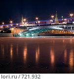 Большой каменный мост. Москва. (2009 год). Стоковое фото, фотограф Алексей Ледовской / Фотобанк Лори