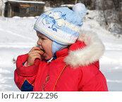 Купить «Кушающая блины», фото № 722296, снято 24 февраля 2009 г. (c) Оля Косолапова / Фотобанк Лори