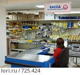 Купить «Касса, интерьер магазина строительных материалов», фото № 725424, снято 27 января 2009 г. (c) Александр Подшивалов / Фотобанк Лори