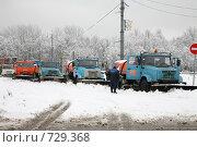 Купить «Снегоуборочные машины наготове - в Москве снегопад», фото № 729368, снято 31 января 2009 г. (c) Наталья Волкова / Фотобанк Лори