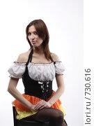 Портрет девушки в карнавальном костюме. Стоковое фото, фотограф Пакалин Сергей / Фотобанк Лори