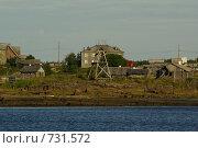 Рабочеостровск со стороны Белого моря (2008 год). Стоковое фото, фотограф Эдуард Финовский / Фотобанк Лори
