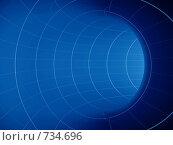 Купить «Синяя труба, изгибающаяся вправо, вид изнутри», иллюстрация № 734696 (c) Михаил Белков / Фотобанк Лори