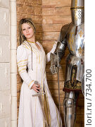 Купить «Девушка в рыцарском замке», фото № 734700, снято 8 февраля 2009 г. (c) Евгений Батраков / Фотобанк Лори