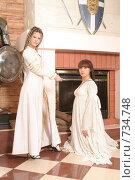 Купить «Девушки в рыцарском замке», фото № 734748, снято 8 февраля 2009 г. (c) Евгений Батраков / Фотобанк Лори
