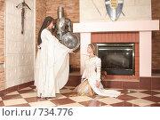 Купить «Девушки в рыцарском замке», фото № 734776, снято 8 февраля 2009 г. (c) Евгений Батраков / Фотобанк Лори