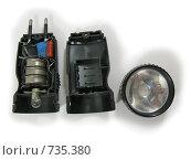 Купить «Разобранный фонарик», фото № 735380, снято 5 марта 2009 г. (c) Геннадий Соловьев / Фотобанк Лори