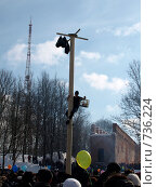 Столб на Масленице (2009 год). Редакционное фото, фотограф Фёдоров Евгений / Фотобанк Лори