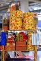 Стол с разноцветными упаковками для подарков, фото № 736632, снято 23 февраля 2009 г. (c) Кекяляйнен Андрей / Фотобанк Лори