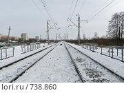 Купить «Железная дорога», фото № 738860, снято 23 февраля 2009 г. (c) Евгений Поздняков / Фотобанк Лори
