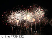 Салют на набережной Москвы-реки 9 мая. Москва. Стоковое фото, фотограф Светлана Архи / Фотобанк Лори