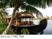 Купить «Лодка-дом в Индии, Керала», фото № 740704, снято 14 января 2009 г. (c) Гараев Александр / Фотобанк Лори