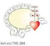 Купить «Баннер с сердечком», иллюстрация № 741284 (c) Алексей Лебедев-Реллер / Фотобанк Лори